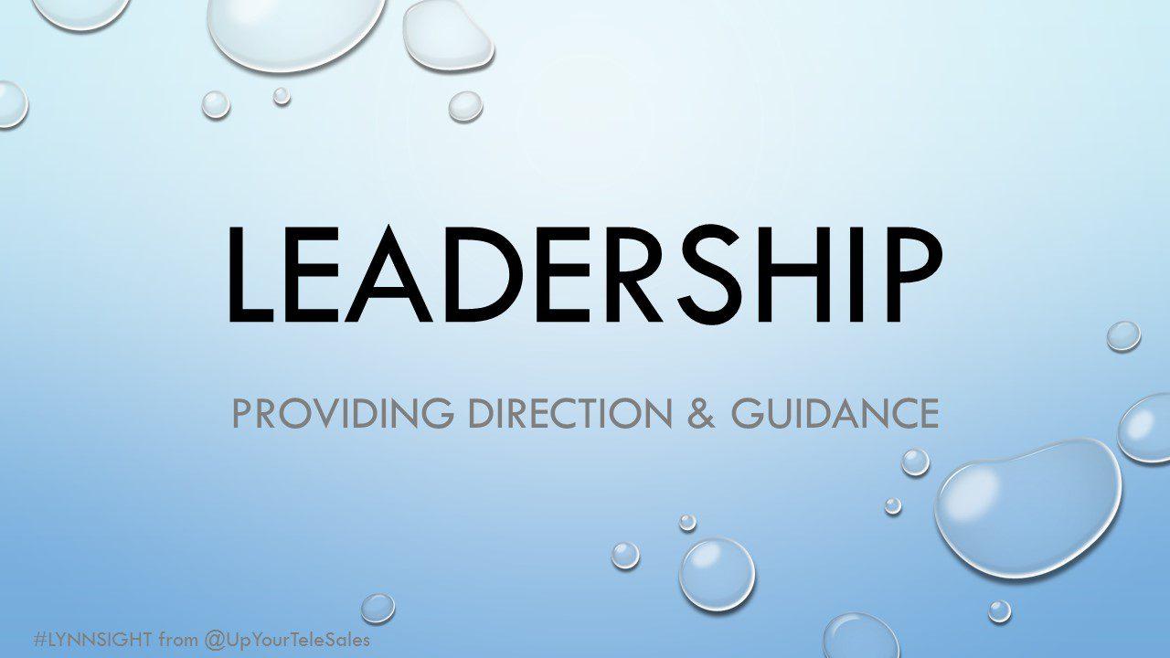 leadership   providing direction  u0026 guidance
